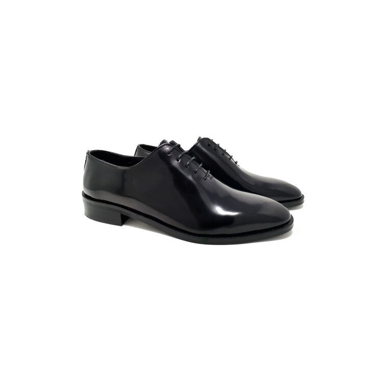 pantofi bărbați negri,lucioși din piele