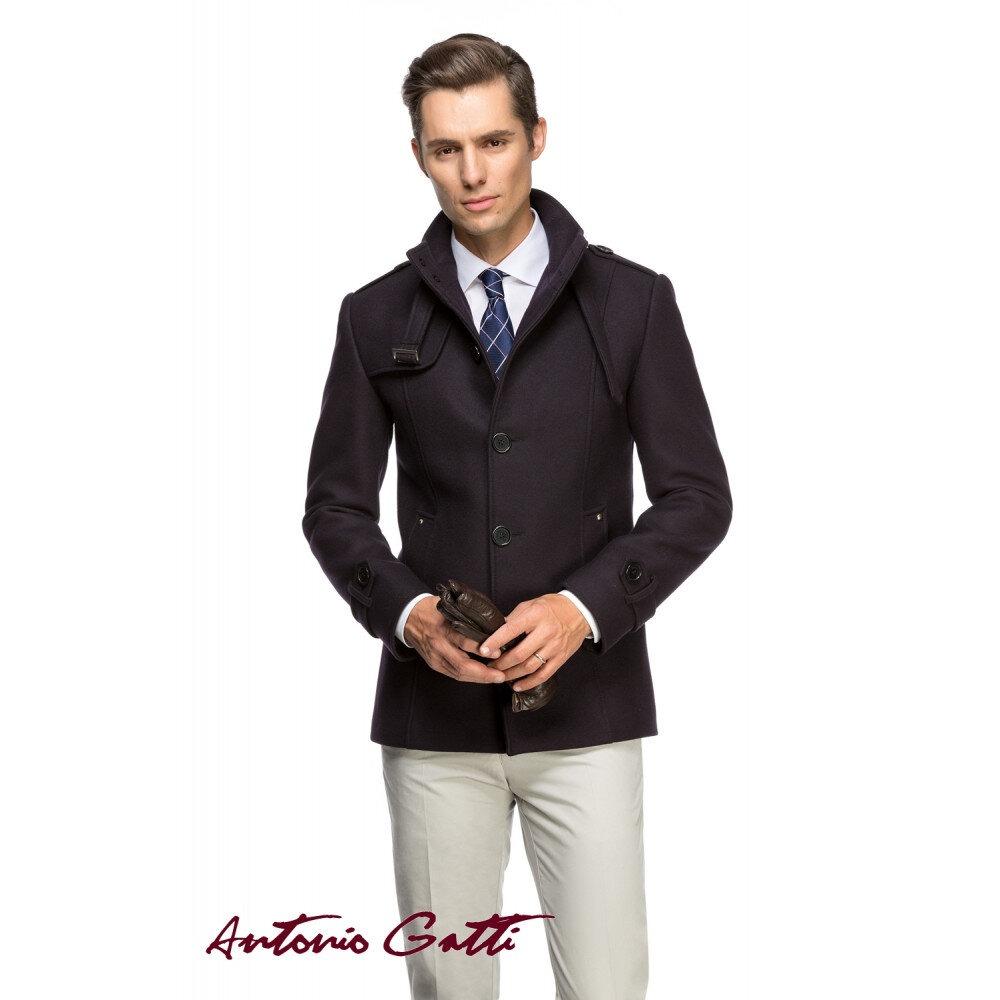 Palton Bărbați Antonio Gatti Scurt Casual Slim Fit B108 Indigo