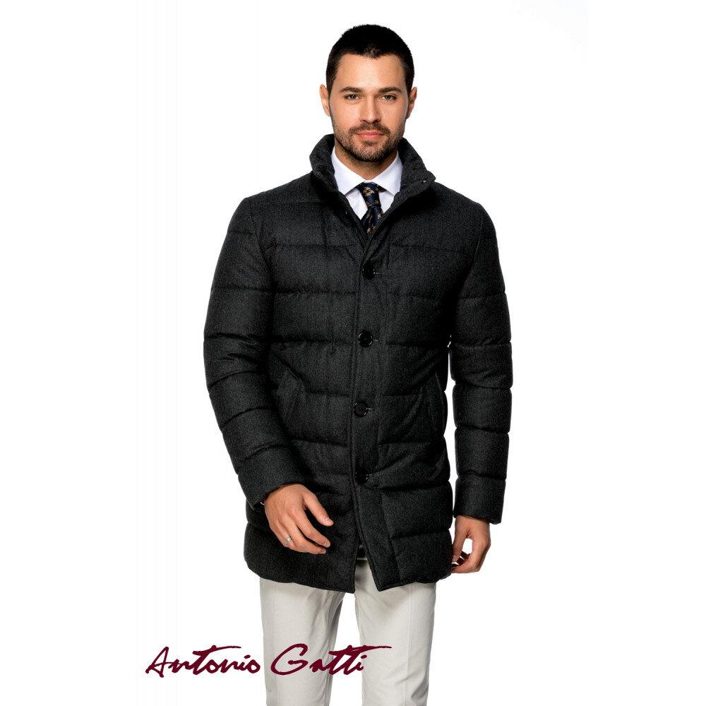 Geacă bărbați Antonio Gatti slim, gri, uni, lunga, g027