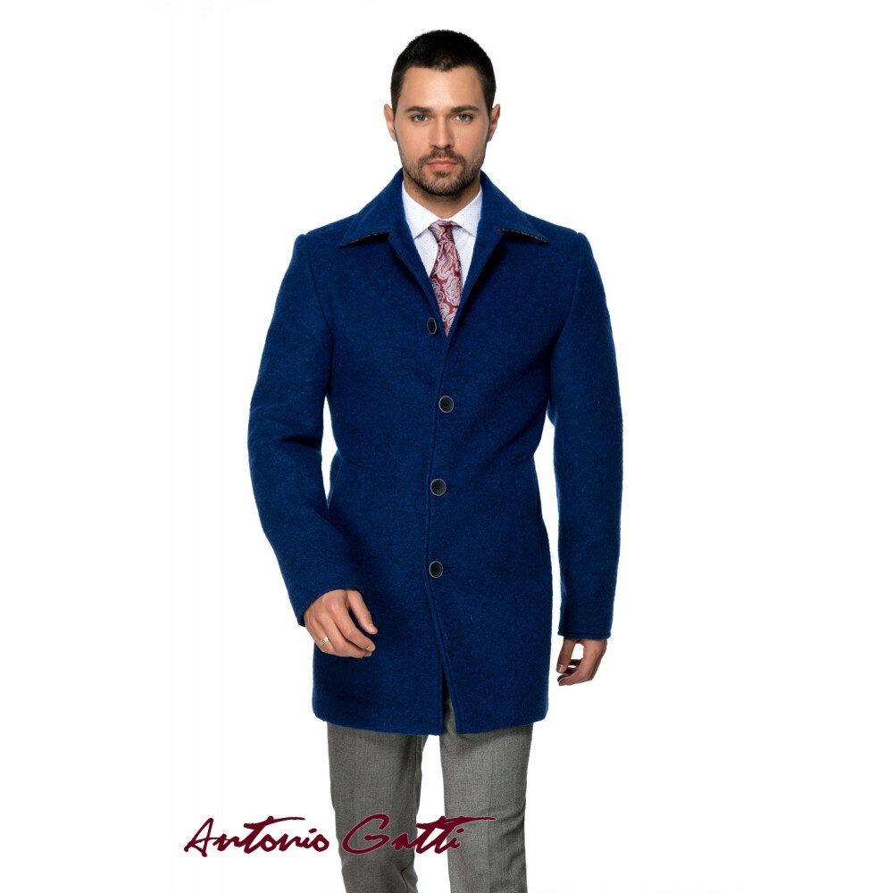 Palton Bărbați Antonio Gatti Albastru Office Lung din Lana Cotta B161 Blu