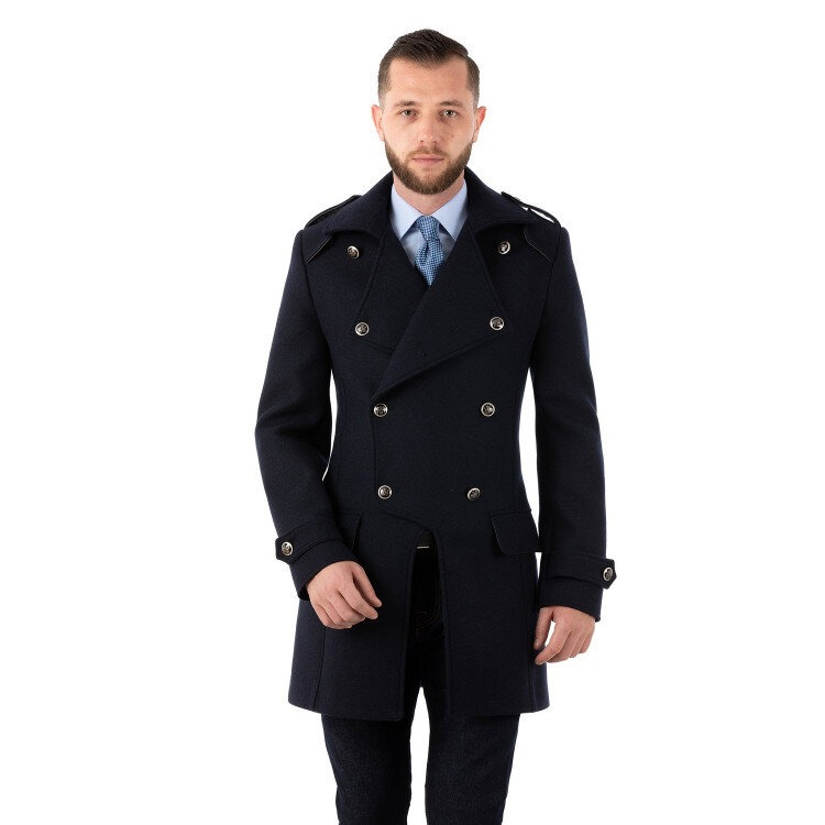 Palton Bărbați Antonio Gatti Smart Casual Military Lung B110 500