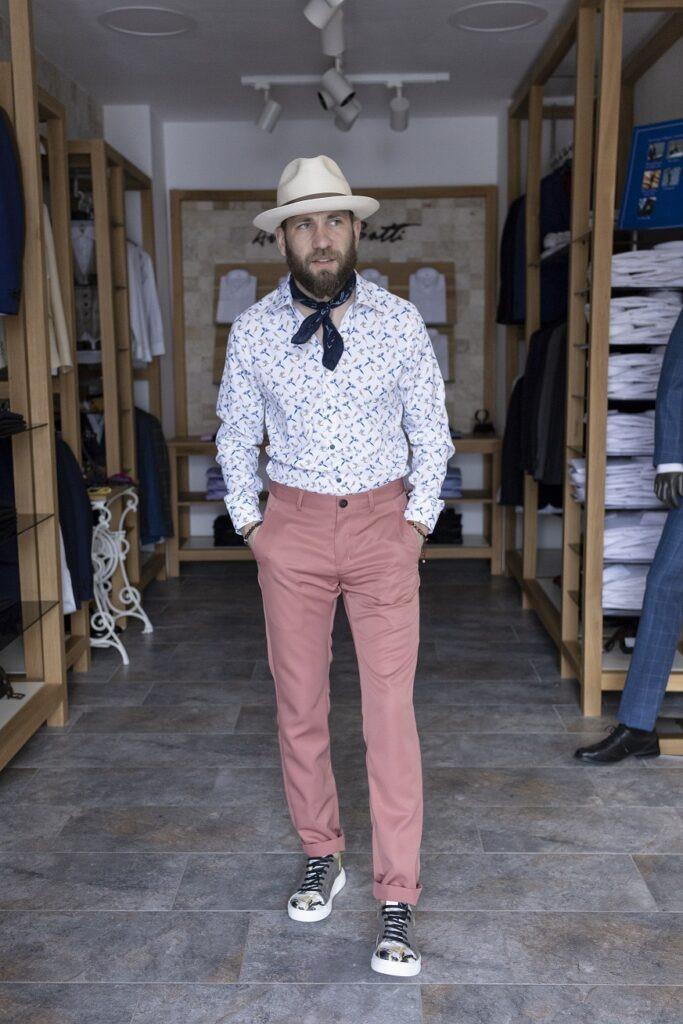 Pantaloni chino Antonio Gatti Corai