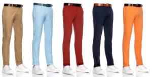 antalonii chino sunt ideali pentru fiecare garderobă masculină deoarece sunt versatili și se găsesc într-o gamă cromatică foarte variată.