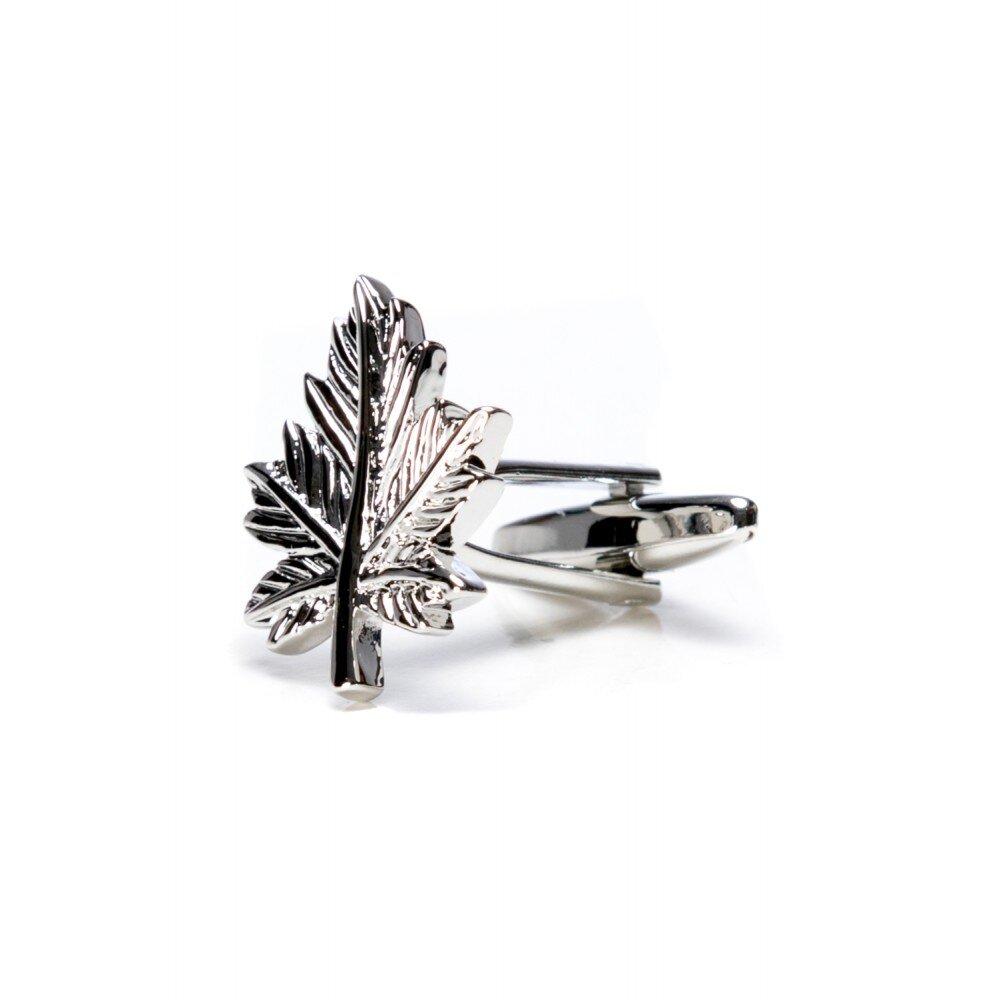 Butoni camasa frunza argintii BU004