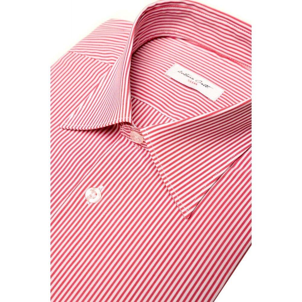 Camasa barbati slim cu dungi rosii