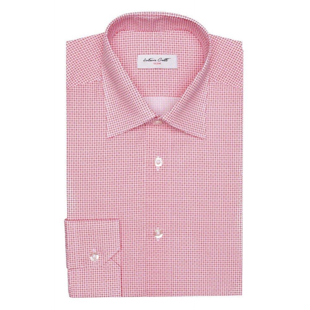 Camasa barbati rosie cu print C001SL