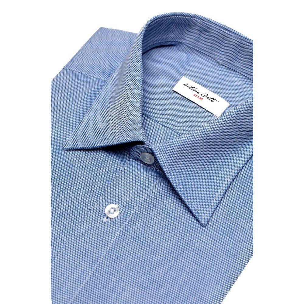 Camasa barbati slim albastra C001SL