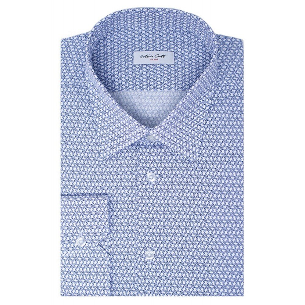 Camasa barbati bleumarin cu print C001SL