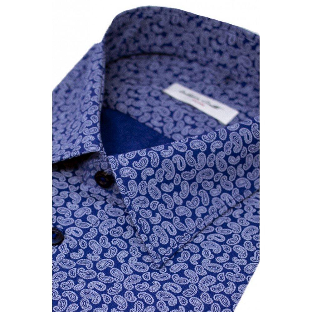 Camasa barbati bleumarin print floral C001SL