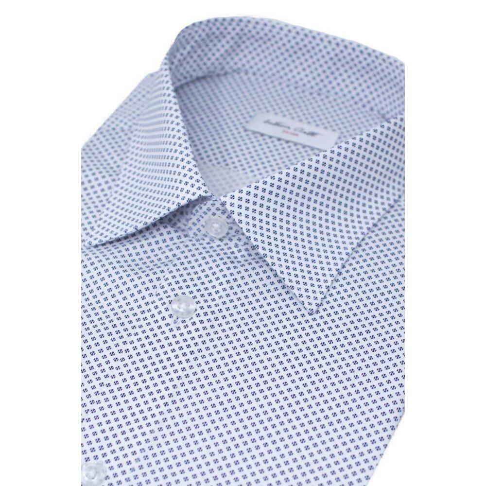 Camasa barbati alba cu print C001SL