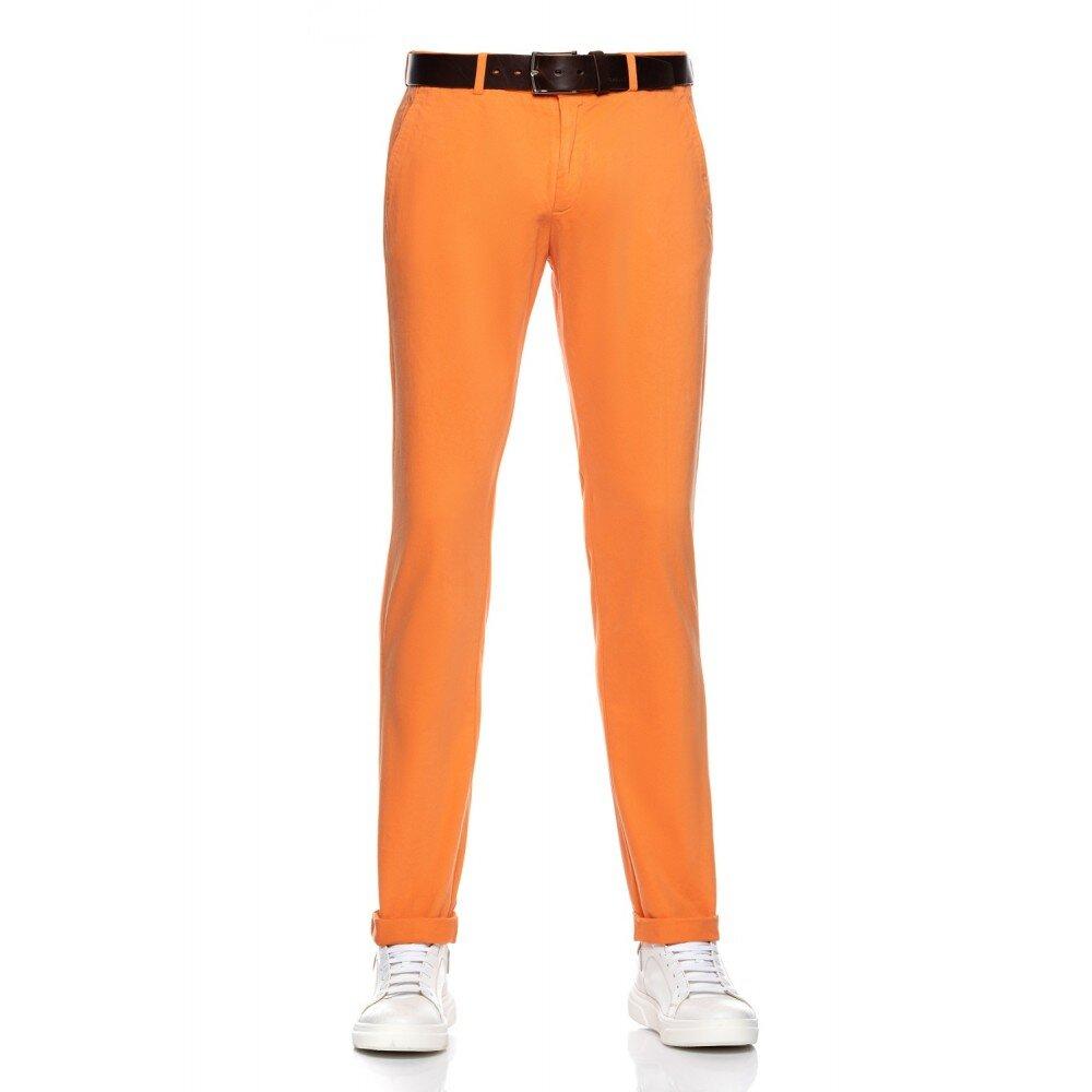 Pantaloni barbati chino portocalii CH001