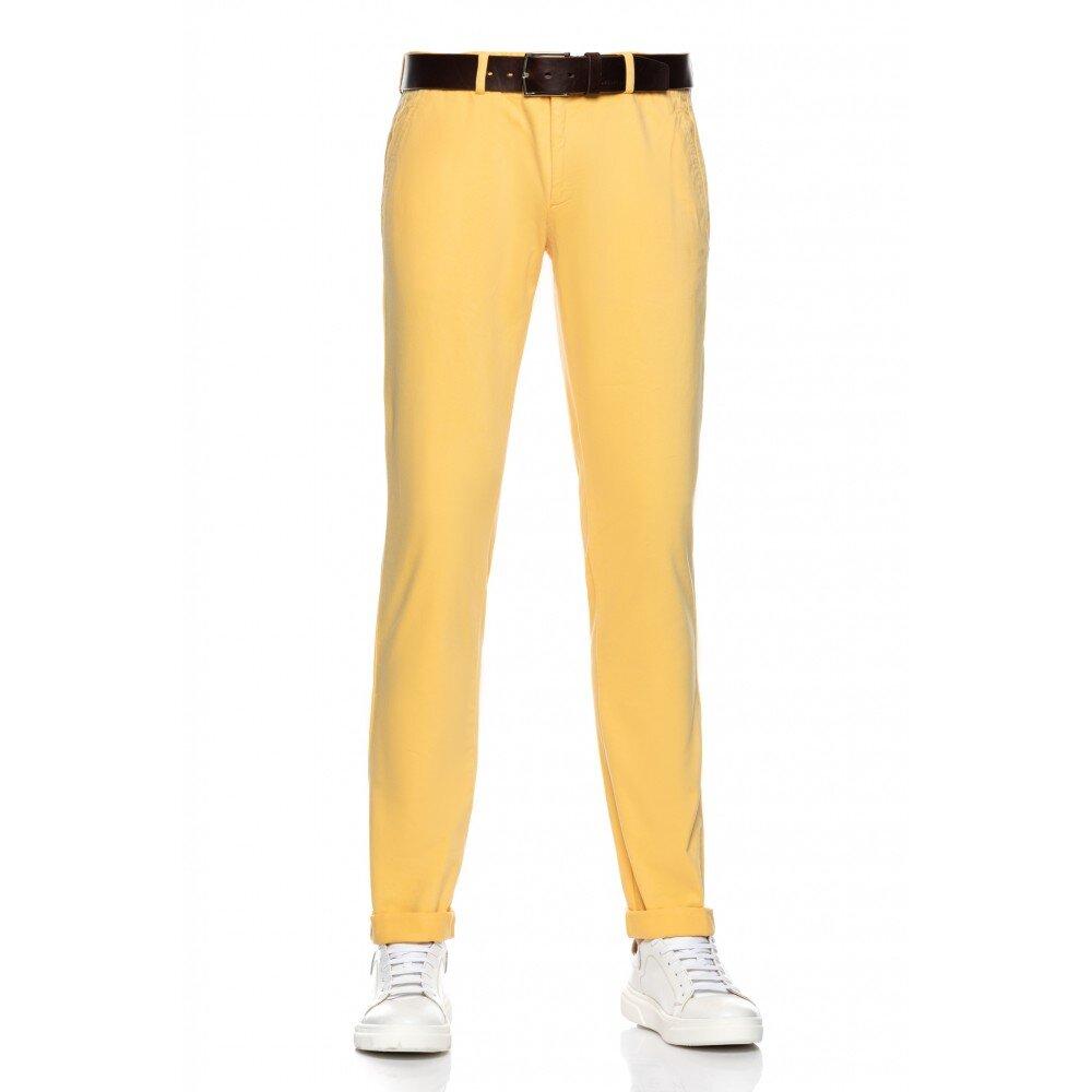 Pantaloni barbati chino galbeni CH001