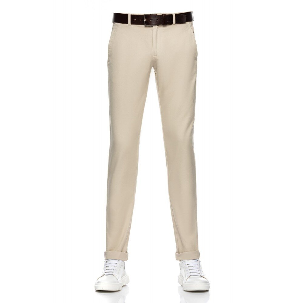 Pantaloni barbati chino crem CH001