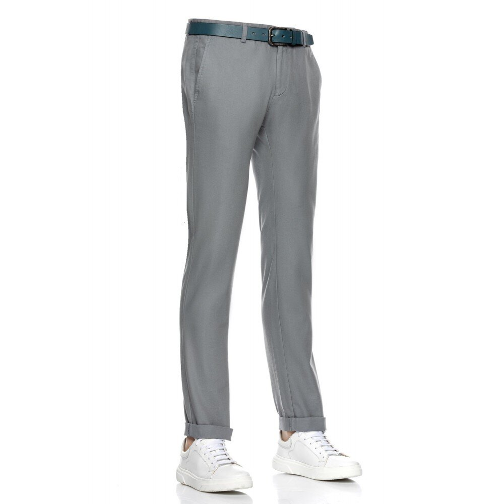 Pantaloni barbati chino gri CH001