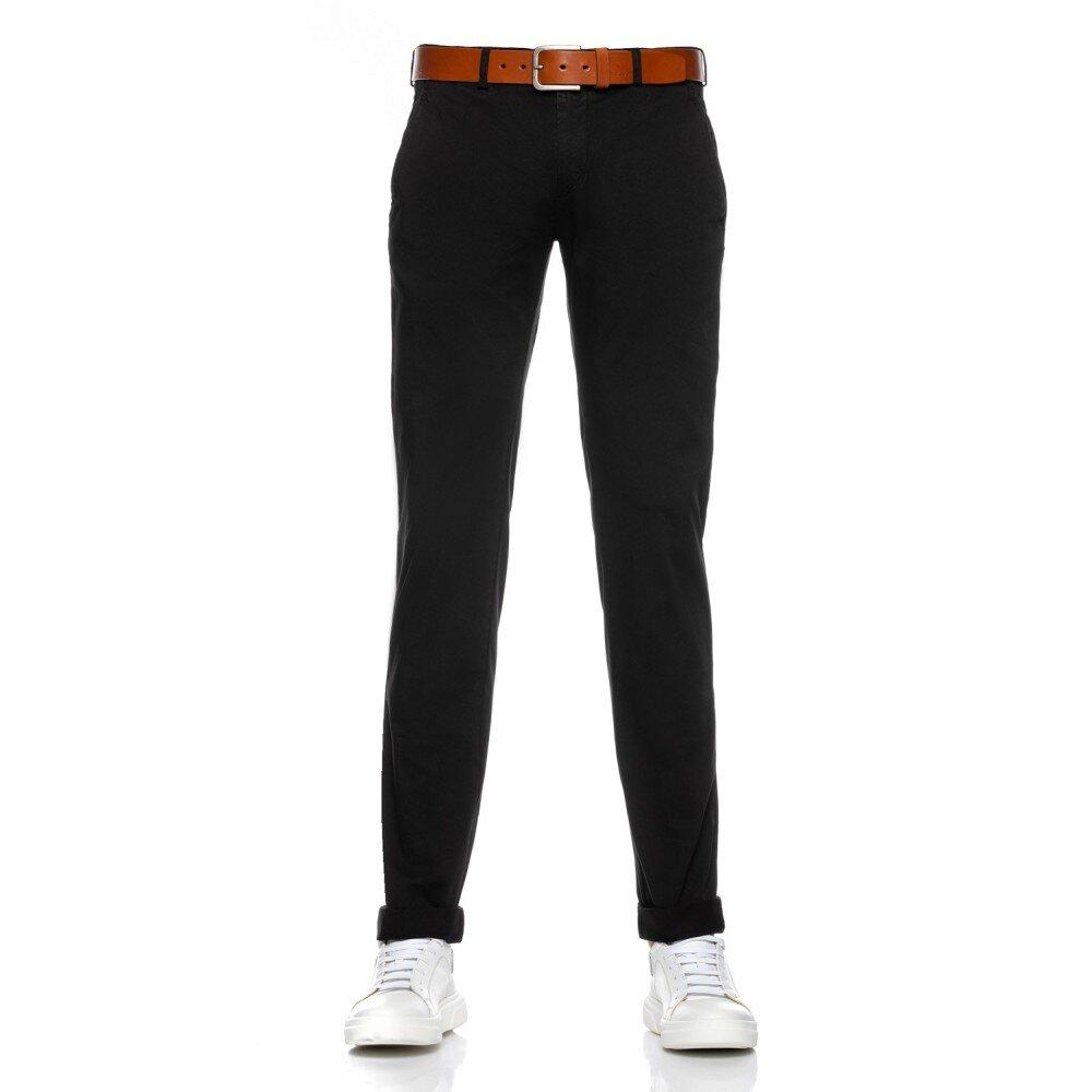 Pantaloni barbati chino negri CH001