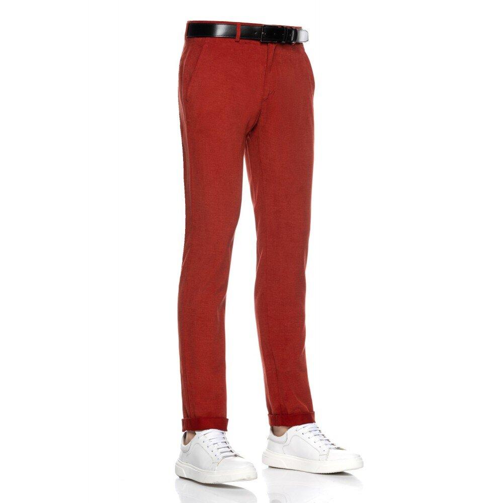 Pantaloni barbati chino caramiziu CH001