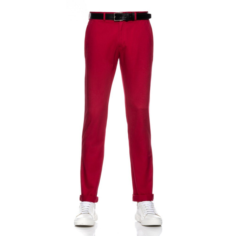 Pantaloni barbati chino grena CH001