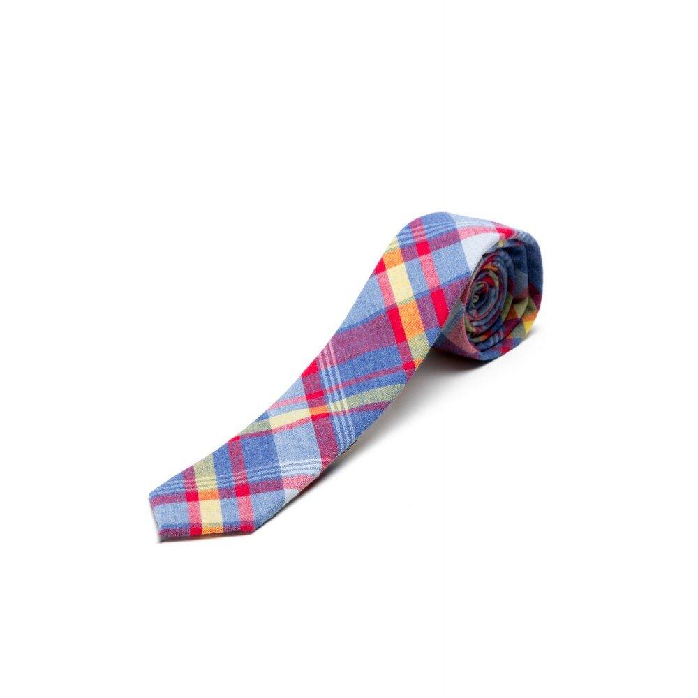 Cravata bleu in carouri
