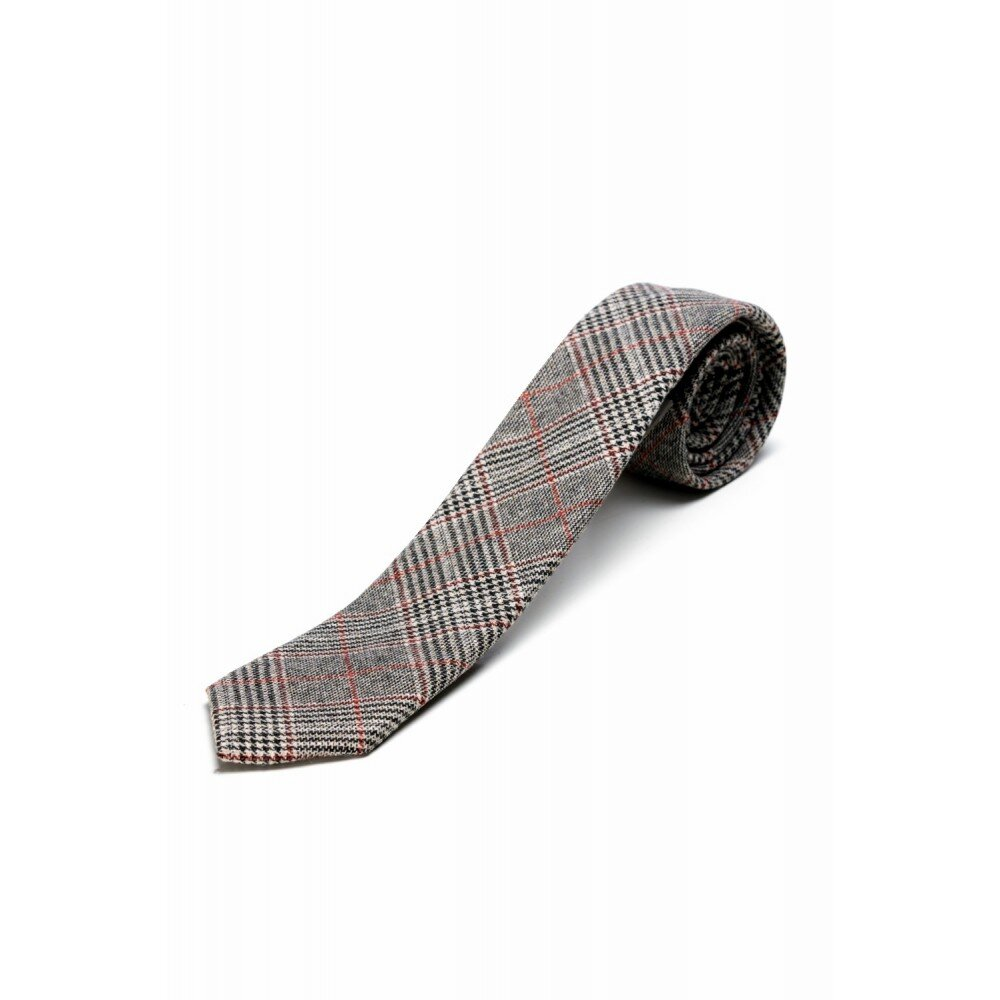 Cravata barbati gri in carouri