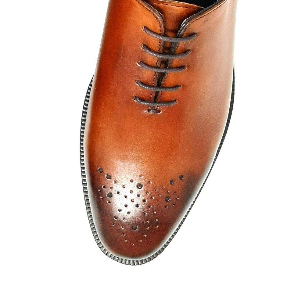 Pantofi barbati cognac din piele PA11