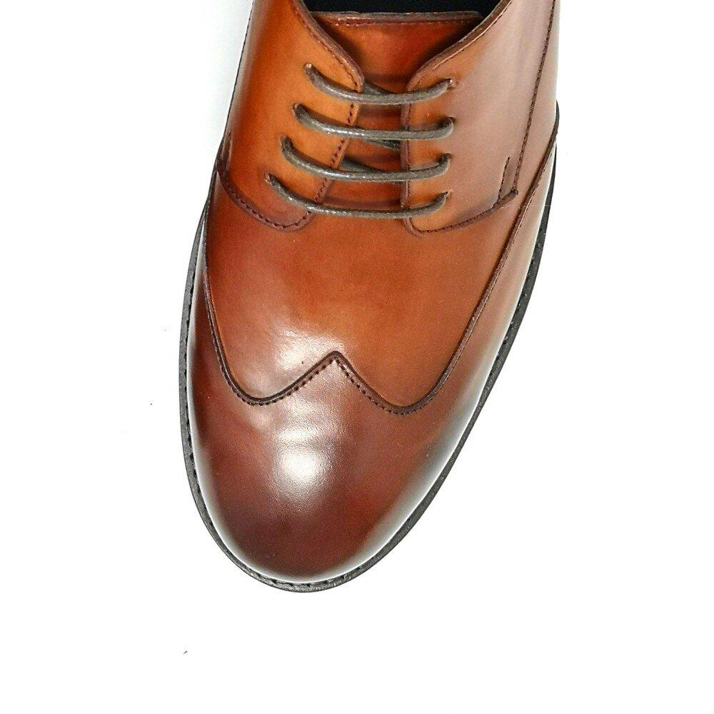 Pantofi barbati cognac din piele