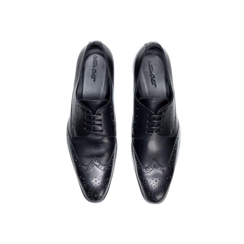 Pantofi barbati negri din piele PA7