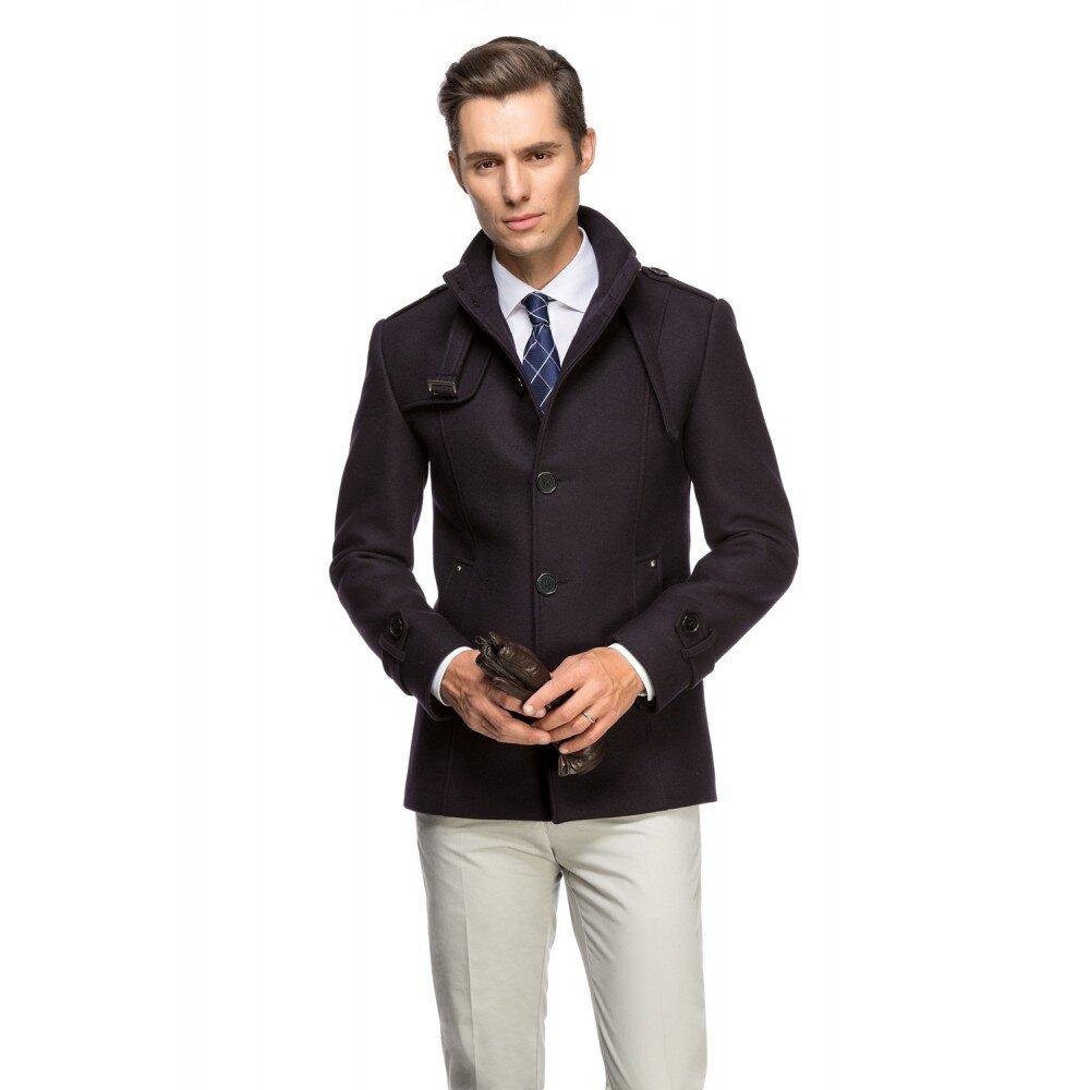 Palton barbati slim bleumarin B108