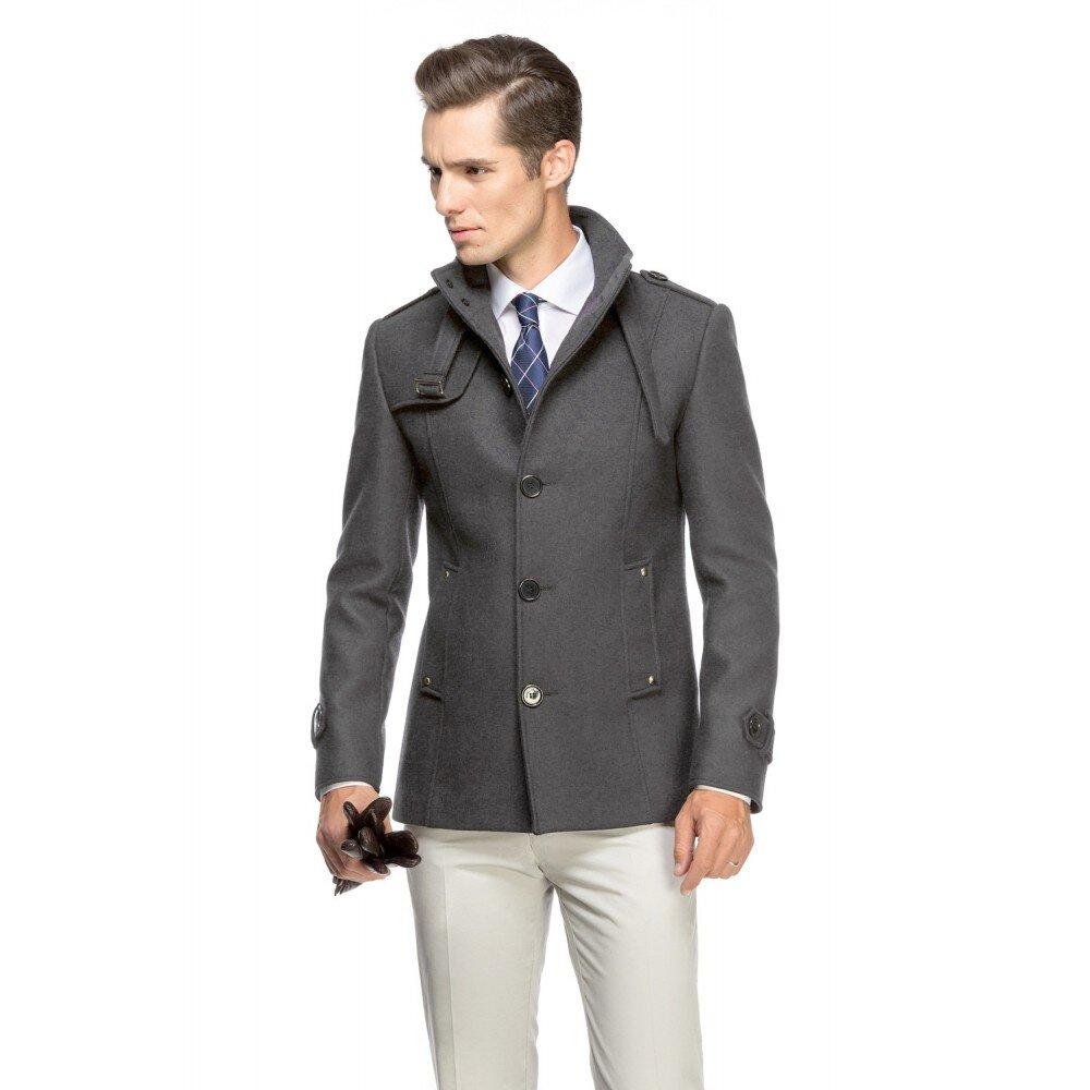 Palton barbati slim gri B108
