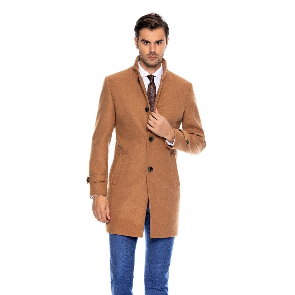 Palton barbati business camel B148