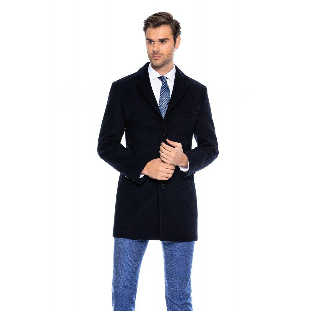 Palton barbati business slim bleumarin B157