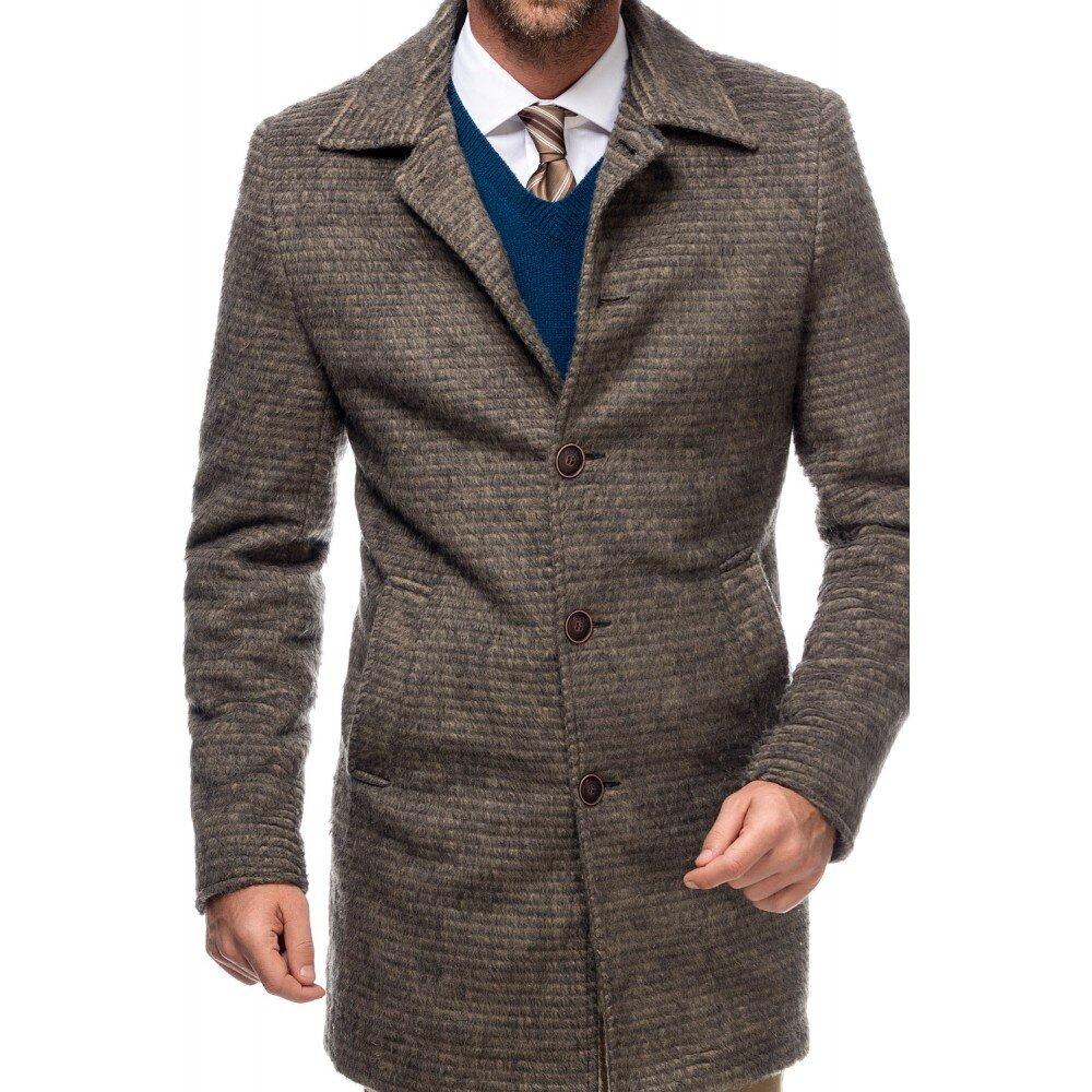 Palton barbati verde din lana cotta B161