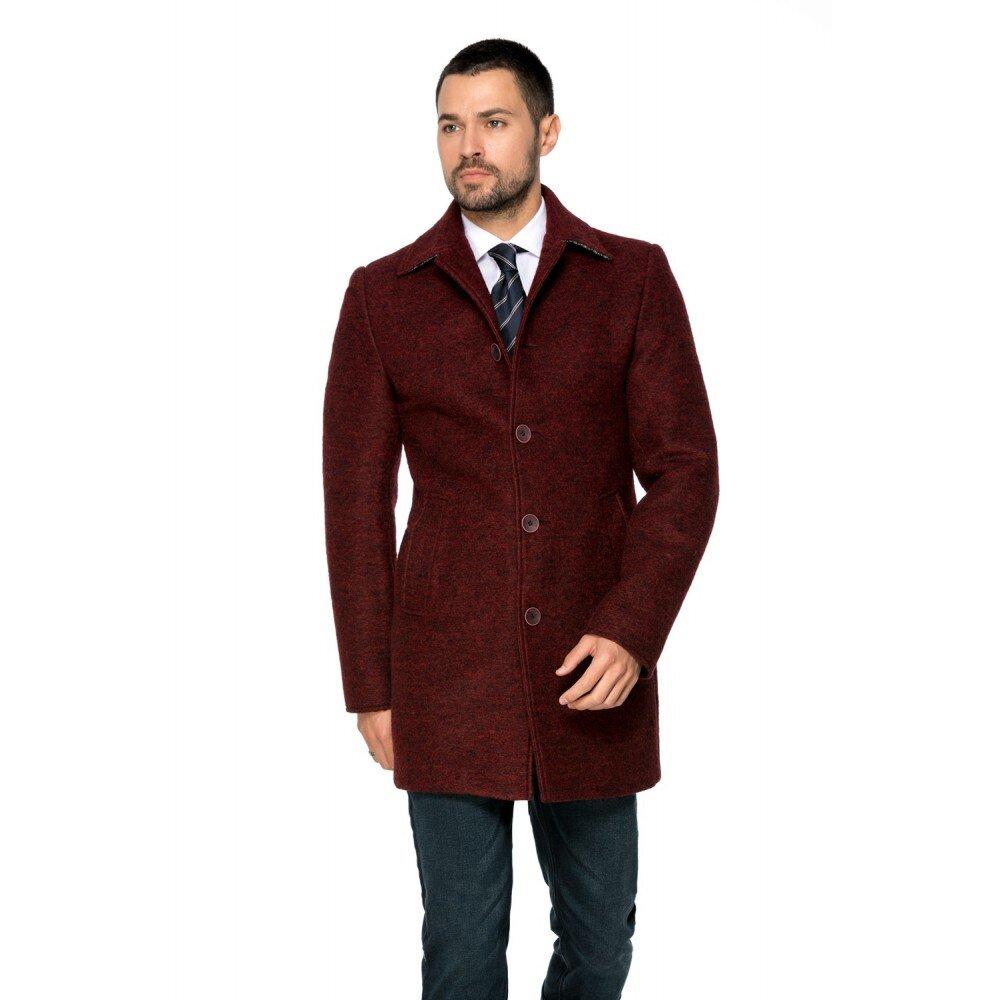 Palton barbati grena din lana cotta B161