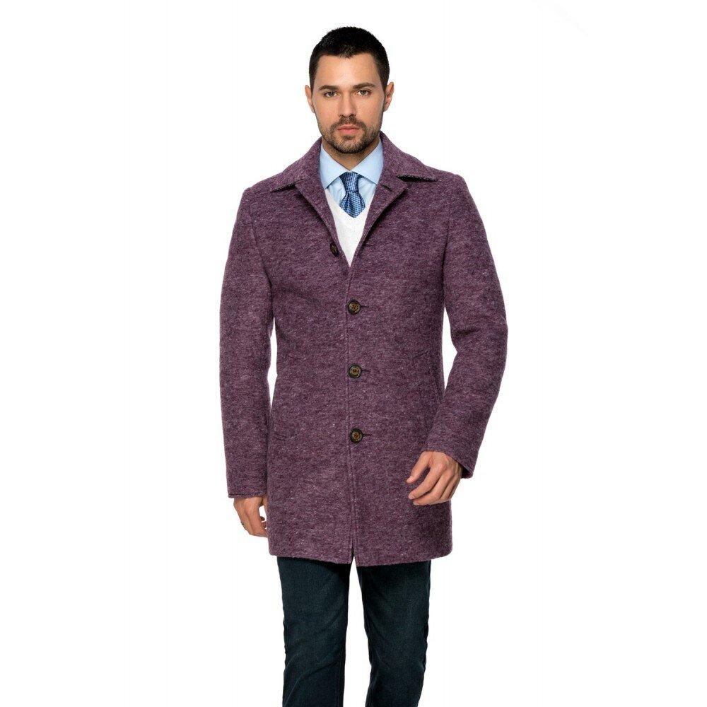 Palton barbati mov din lana cotta