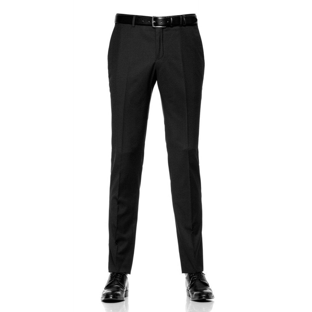 Pantaloni barbati slim negri PT006
