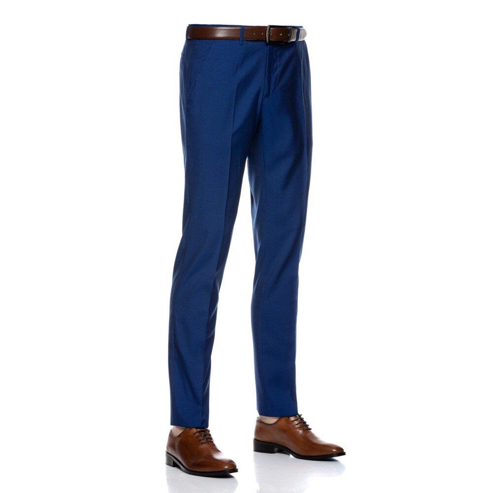 Pantaloni barbati slim albastru PT006