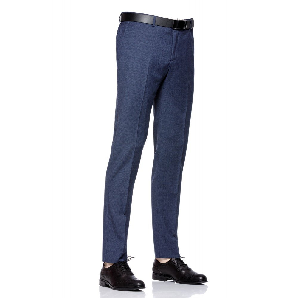 Pantaloni barbati slim bleumarin PT1859