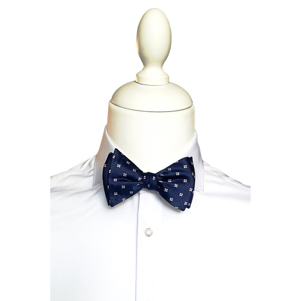 Papion barbati self tie albastru