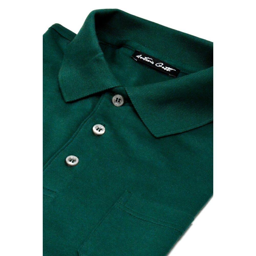 Tricou barbati polo slim verde TR003