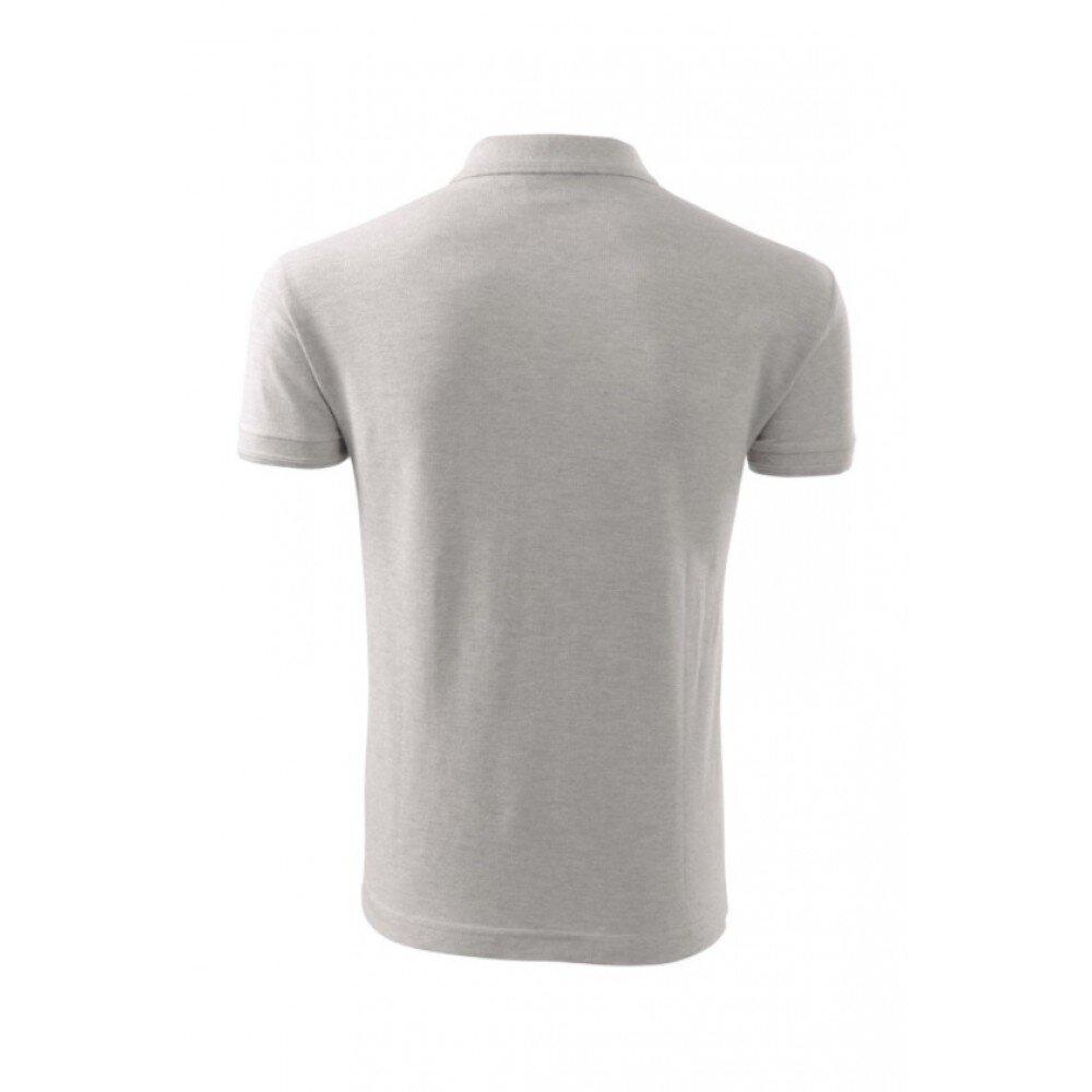 Tricou barbati polo slim gri TR010