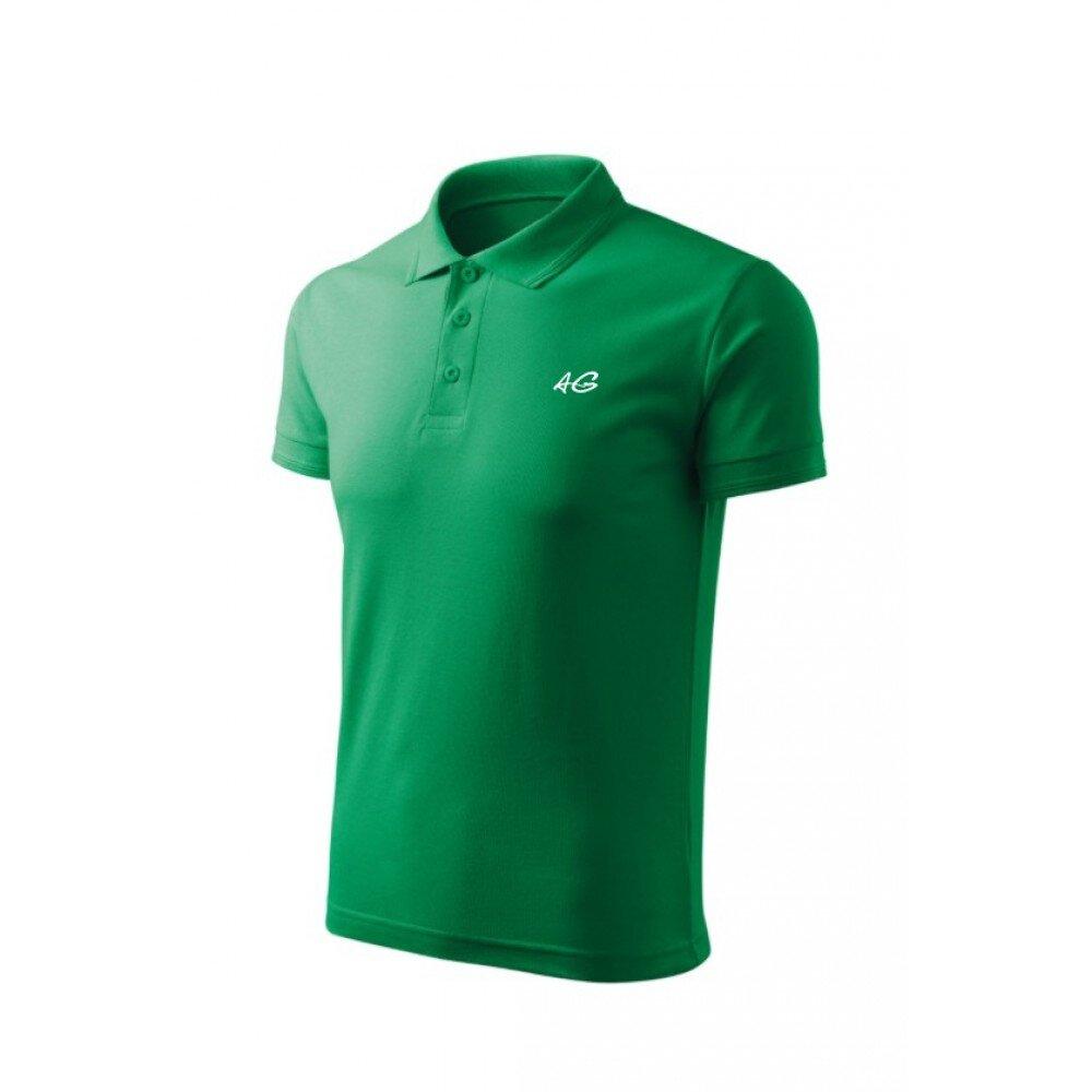 Tricou barbati polo slim verde TR010