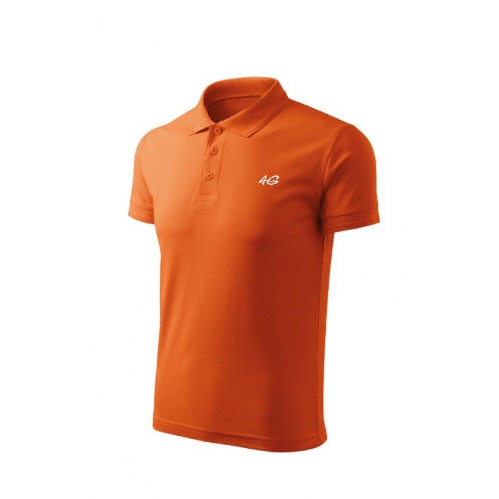 Tricou barbati polo slim orange TR010