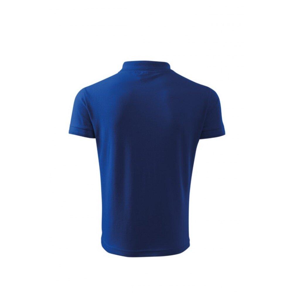 Tricou barbati polo slim albastru TR010