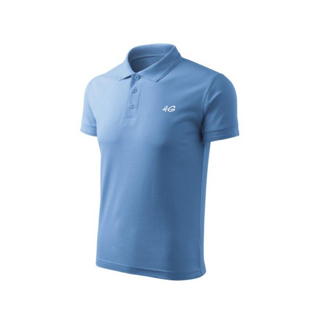 Tricou barbati polo slim bleu TR010